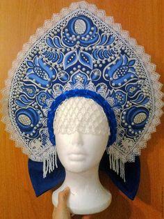 how to make a kokoshnik Russian Hat, Russian Folk, Russian Beauty, Russian Fashion, Traditional Fashion, Traditional Dresses, Folk Costume, Costumes, Cool Hats