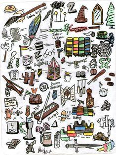 Uma viagem por Hogwarts, 2014. #IlustraçõesFM
