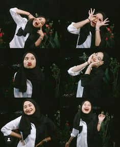 Casual Hijab Outfit, Ootd Hijab, Girl Hijab, Selfie Ideas, Selfie Poses, Pose Reference Photo, Hijab Tutorial, Girl Photography Poses, Aesthetic Girl