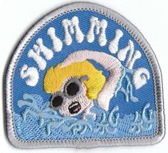 Girl Boy SWIMMING Fun Patches Crests Badges SCOUTS GUIDES Iron On