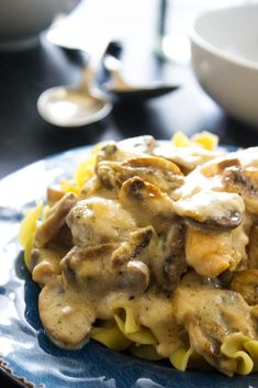 Creamy Chicken and Mushroom Casserole is made with tender chunks of chicken and mushrooms all smothered in a creamy garlic sauce. This makes a wonderful weeknight meal because it is easy to make and can be prepared ahead of time.