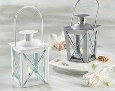 Luminous Mini-Lanterns-Kate Aspen-Let memories of your perfect day light the way. These perfectly charming and practical mini-lanterns are the ideal favor. They add mystery and height to your table decor, while impressing your guests with their subst Elegant Wedding Favors, Candle Wedding Favors, Candle Favors, Wedding Lanterns, Tealight Candle Holders, Bridal Shower Favors, Wedding Ideas, Wedding Stuff, Dream Wedding
