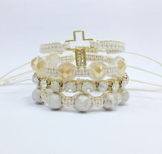 Kit pulseiras com crucifixo