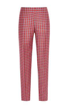 Double Woven Micro Check Trouser by Antonio Berardi
