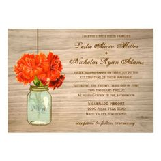 >>>Order          	Country Rustic Mason Jar Flowers Wedding Personalized Announcements           	Country Rustic Mason Jar Flowers Wedding Personalized Announcements We have the best promotion for you and if you are interested in the related item or need more information reviews from the x custo...Cleck Hot Deals >>> http://www.zazzle.com/country_rustic_mason_jar_flowers_wedding_invitation-161417351338850873?rf=238627982471231924&zbar=1&tc=terrest