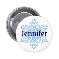#Snowflake Name Badge Buttons - #Xmas #ChristmasEve Christmas Eve #Christmas #merry #xmas #family #holy #kids #gifts #holidays #Santa