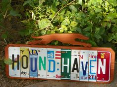 hound haven, letter greyhound, plate letter, greyhounds, greyhound sign, greyhound cutout, greyhound stuff, licens plate, haven sign
