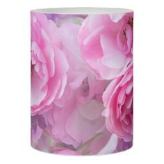 Beautiful dreamy pink roses, customizable candle