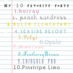 natt smith shares a list of her 10 favorite free fonts | via craft gossip