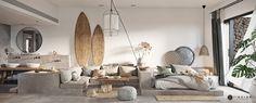 Un mini loft en tons gris Mini Loft, Living Room Decor Cozy, Boho Living Room, Bedroom Decor, Style Asiatique, Bohemian Chic Home, Apartment Color Schemes, Bedroom Colour Palette, Villa