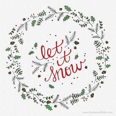 Let it snow! Let it snow! Let it snow! Hope everyone had a very merry Christmas :)