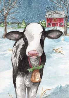 Trademark Fine Art 'Country Christmas Cow Flag' Canvas Art by Melinda Hipsher diy canvas painting, world map canvas, christmas canvas Noel Christmas, Country Christmas, Christmas Ornaments, Christmas Animals, Artist Canvas, Canvas Art, Cow Canvas, Cow Painting, Wood Ornaments