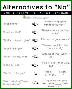 Positive arguing with kids.