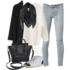 Untitled#2354 by fashionnfacts on Polyvore featuring Agnona, AllSaints, Louis Vuitton, CÉLINE and Forever 21