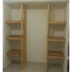 Hacer armario guarda ropa closet con palets muebles de for Closet rusticos