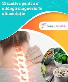 11 motive pentru a adăuga magneziu în #alimentație  #Magneziul este un mineral important care oferă multe beneficii #organismului. Află mai multe despre el în articolul de #astăzi! Good To Know, Health, Handmade, Hand Made, Salud, Health Care, Arm Work
