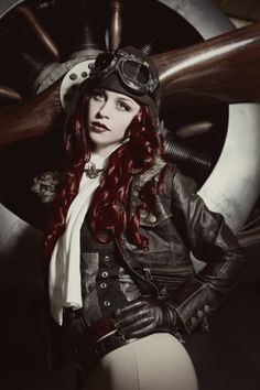 ...steampunk aviatress...