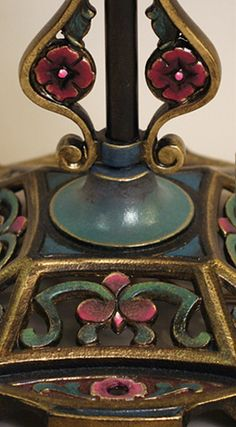 Art Nouveau style victorian lampshade