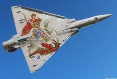 """jets-break-the-soundbarrier: """" colonel-kurtz-official: """"Greek Mirage jet showing off a special paint job. Military Jets, Military Aircraft, Air Fighter, Fighter Jets, Fighter Aircraft, Photo Avion, Hellenic Air Force, Dassault Aviation, Aircraft Parts"""
