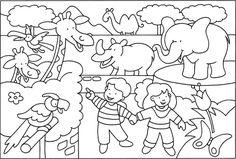You searched for omalov - Page 11 of 11 - Předškoláci - omalovánky, pracovní listy Zoo Coloring Pages, Crayola Coloring Pages, Coloring Sheets For Kids, Zoo Drawing, Drawing For Kids, Art For Kids, Crafts For Kids, Composition Drawing, Madhubani Painting