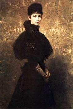 "Gyula BENCZÚR: ""Portrait of Queen Elizabeth"", 1899, Oil on canvas, 142 x 96 cm Magyar Nemzeti Galéria, Budapest"