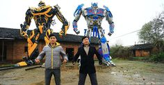 This Chinese Father and Son Just Built Insane Life-Sized Transformers From Car Parts   http://crazyfrenzy.nowpole.com/link/n3mctmy6mq