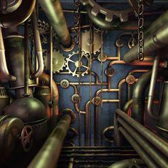 Nautillus by Luiz Eduardo Borges ~Steampunk Love •❀• From Airship Commander HG Havisham