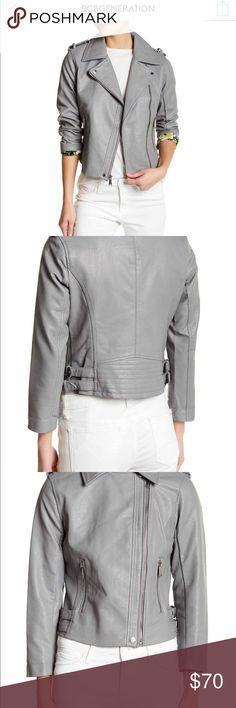 BCBG Asymmetrical Faux Leather Moto Jacket Beautiful Faux Leather Moto Jacket BCBG generation Brand New No tags Never worn BCBGeneration Jackets & Coats Utility Jackets