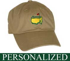 10c1f1ca35eb5 Personalized Khaki Masters Hat - GreatGolfMemories.com. Eureka Golf  Products · Masters Golf Tournament Merchandise