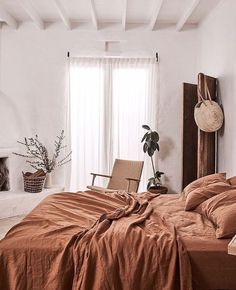 rust and white Interior Design Magazine, Home Interior Design, Home Decor Sets, Diy Home Decor, Bouquet, Color Stories, Simple Interior, Bedroom Pictures, Floral
