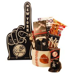 #newyorkyankees #NYY New York Yankees Kids Gift Basket $55.95 - perfect gift for #Yankees fans