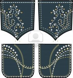 embroidery designs for jeans pockets - Google Search