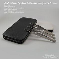 Volume Eyelash Extension Tweezers Set