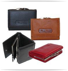 be88235c66c2d Damen Leder Geldbörse mit Bügelverschluß - von Money Maker - praktische  Größe ca 9