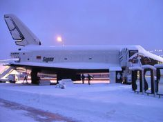 Side view of the Buran Space Shuttle in Moscow