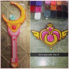 Sailor Moon perler beads by krystalsaphire