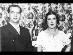 Federico García Lorca y La Argentinita - Nana de Sevilla - Grabación original en pizarra a 78 rpm - YouTube