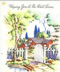Hoping you'll be well soon. #vintage #get_well #cards