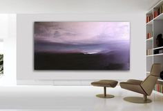 84x44 ABSTRACT PAINTINGORIGINAL Landscape Large by tegafineart