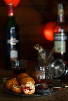 ... : Ham and Brie Arancini with Cranberry Sauce and Negroni Cocktails