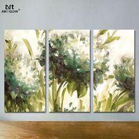 Modern Colorful Green 3 pcs Flower Children Living Room Decoration Canvas…