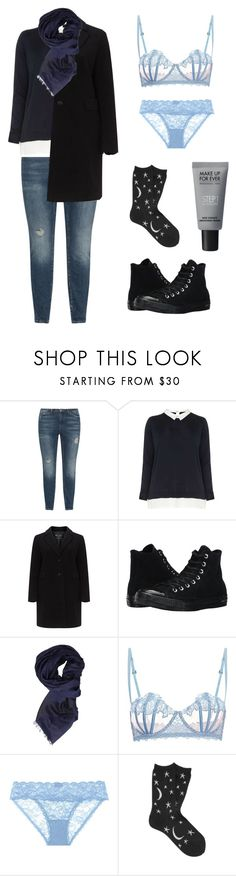 """""""We go"""" by slowsilence20 ❤ liked on Polyvore featuring JunaRose, Dorothy Perkins, Converse, Armani Jeans, La Perla, Cosabella, Hansel from Basel and MAKE UP FOR EVER"""