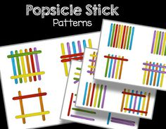Popsicle Stick Patterns Busy Bag Printable PDF INSTANT