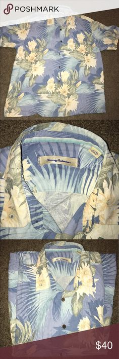 Tommy Bahama XL Button Up Shirt In like new condition, with a floral design, 100%silk Tommy Bahama Shirts Casual Button Down Shirts