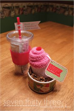 Sock muffins --- great Christmas gift idea