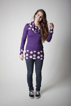 Sorted Clothing Sweatshirts - sorted lila Pulli weiße Punkte - ein Designerstück von sorted-clothing bei DaWanda sweater purple with polkadots