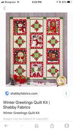 Snowman Quilt, Shabby Fabrics, Advent Calendar, Quilts, Holiday Decor, Home Decor, Decoration Home, Room Decor, Advent Calenders