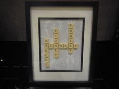 Personalised scrabble art,any design(weddings,births,christenings,xmas)FAB GIFTS £27.00