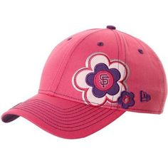 $19.95 MLB New Era San Francisco Giants Youth Girls Pink Blossom Adjustable Hat - Pink