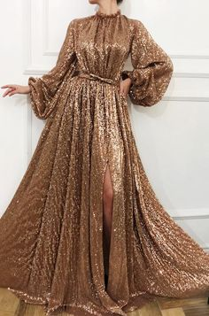 Sequin Sparkly Shinning Long Sleeves A-Line Cheap Modest Fashion Elegant Prom Dr. - Sequin Sparkly Shinning Long Sleeves A-Line Cheap Modest Fashion Elegant Prom Dresses, Unique Party Dress, Source by vlasinroxana - Elegant Prom Dresses, Unique Dresses, Women's Dresses, Beautiful Dresses, Evening Dresses, Long Dresses, Wedding Dresses, Summer Dresses, Party Dresses